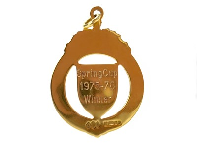 Lot 1770 - AIRDRIE F.C. INTEREST - AN EXTREMELY RARE SCOTTISH FOOTBALL LEAGUE SPRING CUP WINNERS GOLD MEDAL