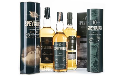 Lot 266-ONE LITRE AND TWO BOTTLES OF SPEYBURN 10 YEARS OLD