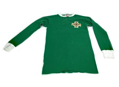 Lot 1774 - AN IRISH FOOTBALL ASSOCIATION MATCHWORN JERSEY