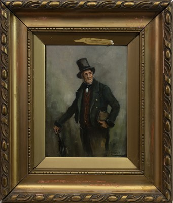 Lot 9-PORTRAIT OF A GENTLEMAN, AN OIL BY GEORGE AIKMAN
