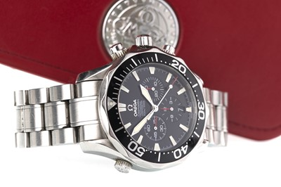 Lot 727-A GENTLEMAN'S OMEGA SEAMASTER PROFESSIONAL CHRONOGRAPH STAINLESS STEEL WRIST WATCH