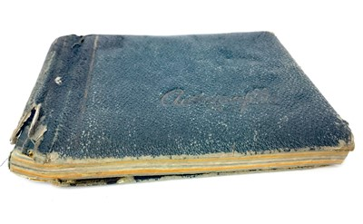 Lot 1776 - A 20TH CENTURY AUTOGRAPH ALBUM CONTAINING AUTOGRAPHS OF SCOTTISH FOOTBALLERS