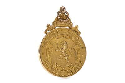 Lot 1706 - A SCOTTISH CENTRAL FOOTBALL LEAGUE RUNNERS UP GOLD MEDAL 1940