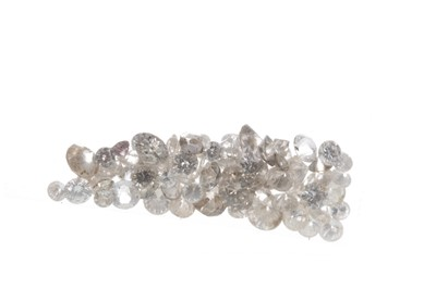 Lot 321-A COLLECTION OF UNMOUNTED DIAMONDS