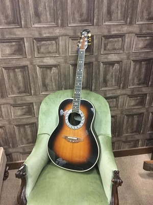 Lot 1177 - AN OVATION ELECTRIC-ACOUSTIC GUITAR