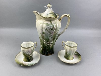 Lot 6-A CONTINENTAL 'LILY OF THE VALLEY' CHOCOLATE SET
