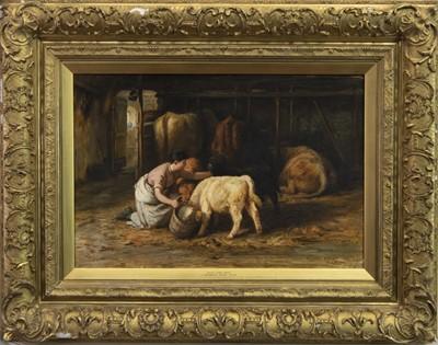 Lot 14-YOUR TURN NEXT, AN OIL BY JOSEPH DENOVAN ADAM