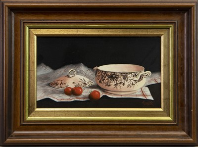 Lot 414-SOUPIER ET TOMATOES, AN OIL BY F GRESSIER