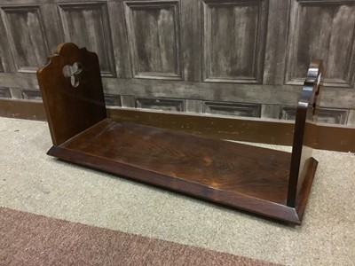 Lot 1607-A LATE 19TH CENTURY ROSEWOOD BOOK TROUGH