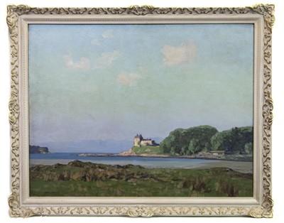 Lot 17-DUNTRUNE CASTLE, AN OIL BY GEORGE HOUSTON