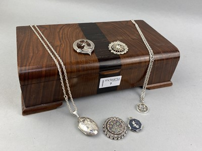 Lot 7-A COLLECTION OF SILVER AND OTHER JEWELLERY