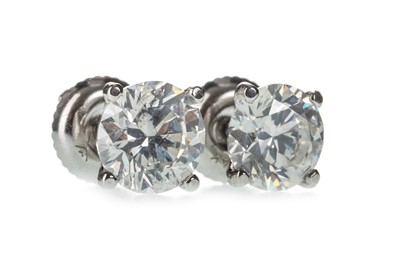 Lot 330-A PAIR OF CERTIFICATED DIAMOND STUD EARRINGS