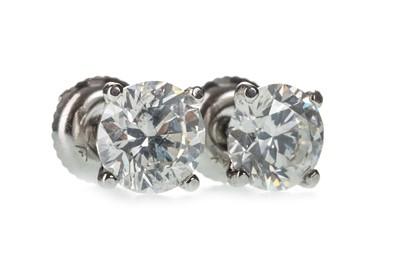 Lot 330-A PAIR OF CERTIFICATED DIAMOND STUD EARRINGS