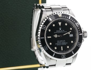 Lot 729-A GENTLEMAN'S ROLEX OYSTER PERPETUAL DATE SEA DWELLER STAINLESS STEEL AUTOMATIC WRIST WATCH