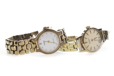 Lot 736-TWO LADY'S GOLD PLATED WATCHES