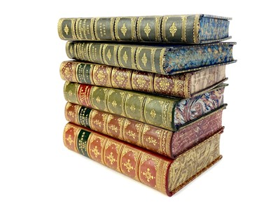 Lot 1616-QUENTIN DURWARD BY SIR WALTER SCOTT, ALONG WITH FIVE OTHER CALF BOUND VOLUMES