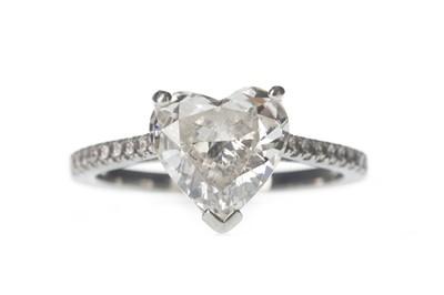 Lot 336-A HEART SHAPED DIAMOND DRESS RING