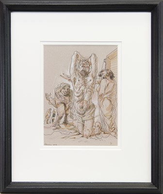 Lot 529-REDEMPTION, A MIXED MEDIA BY PETER HOWSON