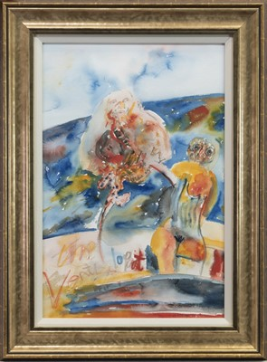 Lot 530-THE VENTRILOQUIST, A SELF PORTRAIT, A MIXED MEDIA BY JOHN BELLANY