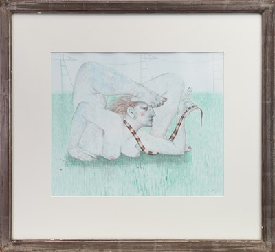 Lot 534-THE ACROBAT, A WATERCOLOUR BY JUNE CAREY