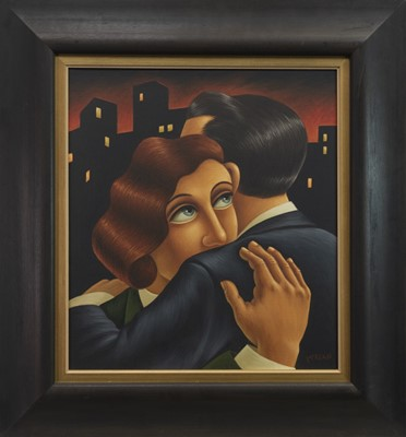 Lot 536-THE EMBRACE, AN OIL BY GRAHAM MCKEAN