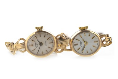Lot 742-TWO LADY'S ROTARY NINE CARAT GOLD WRIST WATCHES