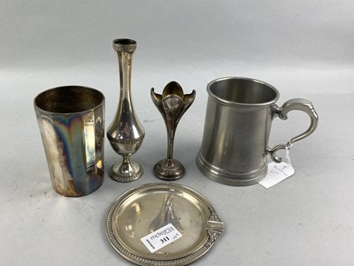 Lot 311-A CONTINENTAL SILVER CIRCULAR DISH AND OTHER ITEMS