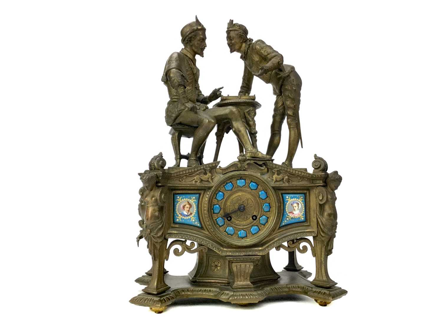 Lot 1727 - A LATE 19TH CENTURY FRENCH FIGURAL MANTEL CLOCK