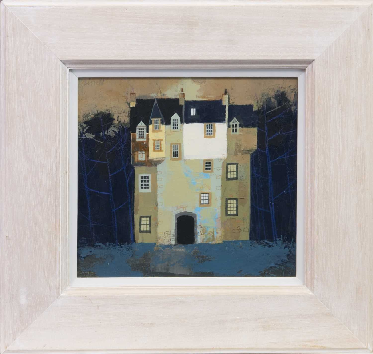 Lot 730 - CASTLE, PERTHSHIRE, AN OIL BY GEORGE BIRRELL