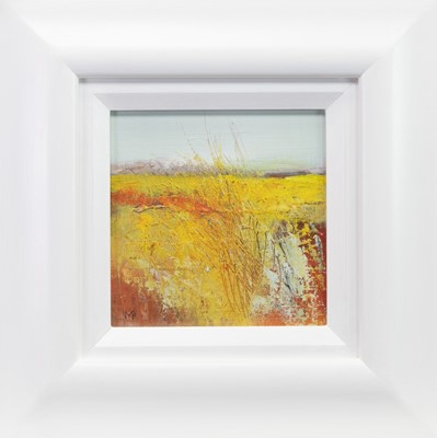 Lot 723 - CORNFIELD, AN OIL BY MAY BYRNE