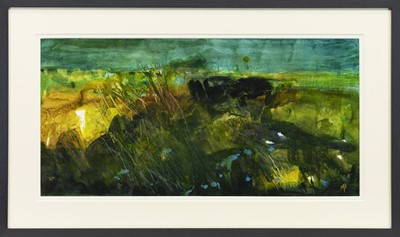 Lot 743 - TURQUOISE TRINKETS, A MIXED MEDIA BY MAY BYRNE