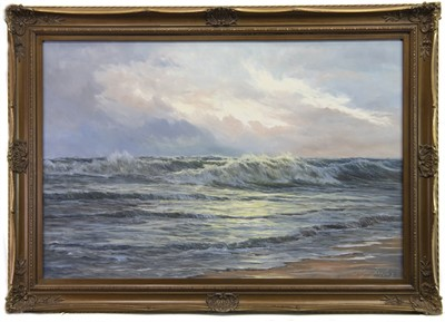 Lot 547-SEASCAPE, AN OIL BY EDGAR FREYBERG