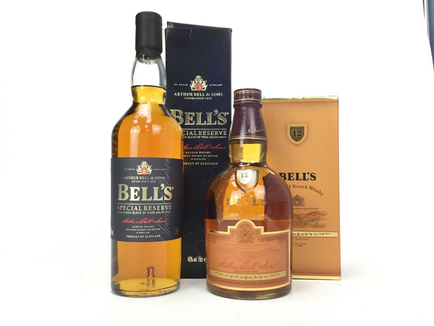 Lot 424-BELLS SPECIAL RESERVE AND 12 YEARS OLD
