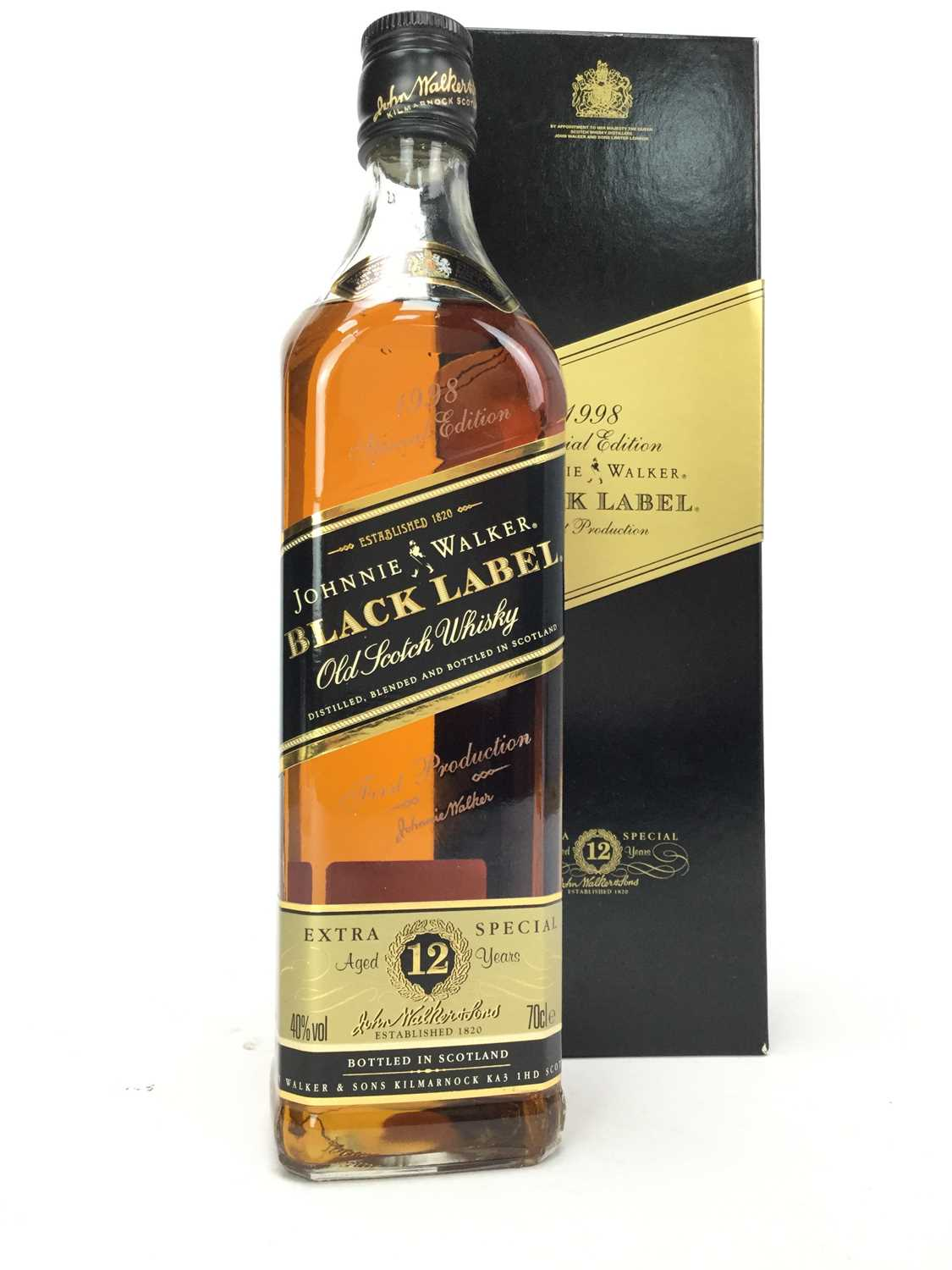 Lot 425 - JOHNNIE WALKER BLACK LABEL AGED 12 YEARS SPECIAL EDITION FIRST PRODUCTION