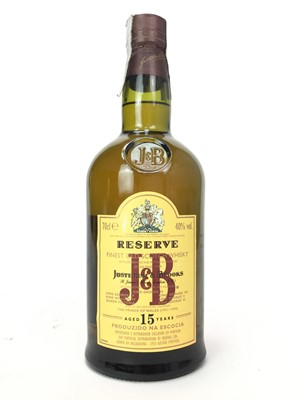 Lot 426-J&B RESERVE AGED 15 YEARS