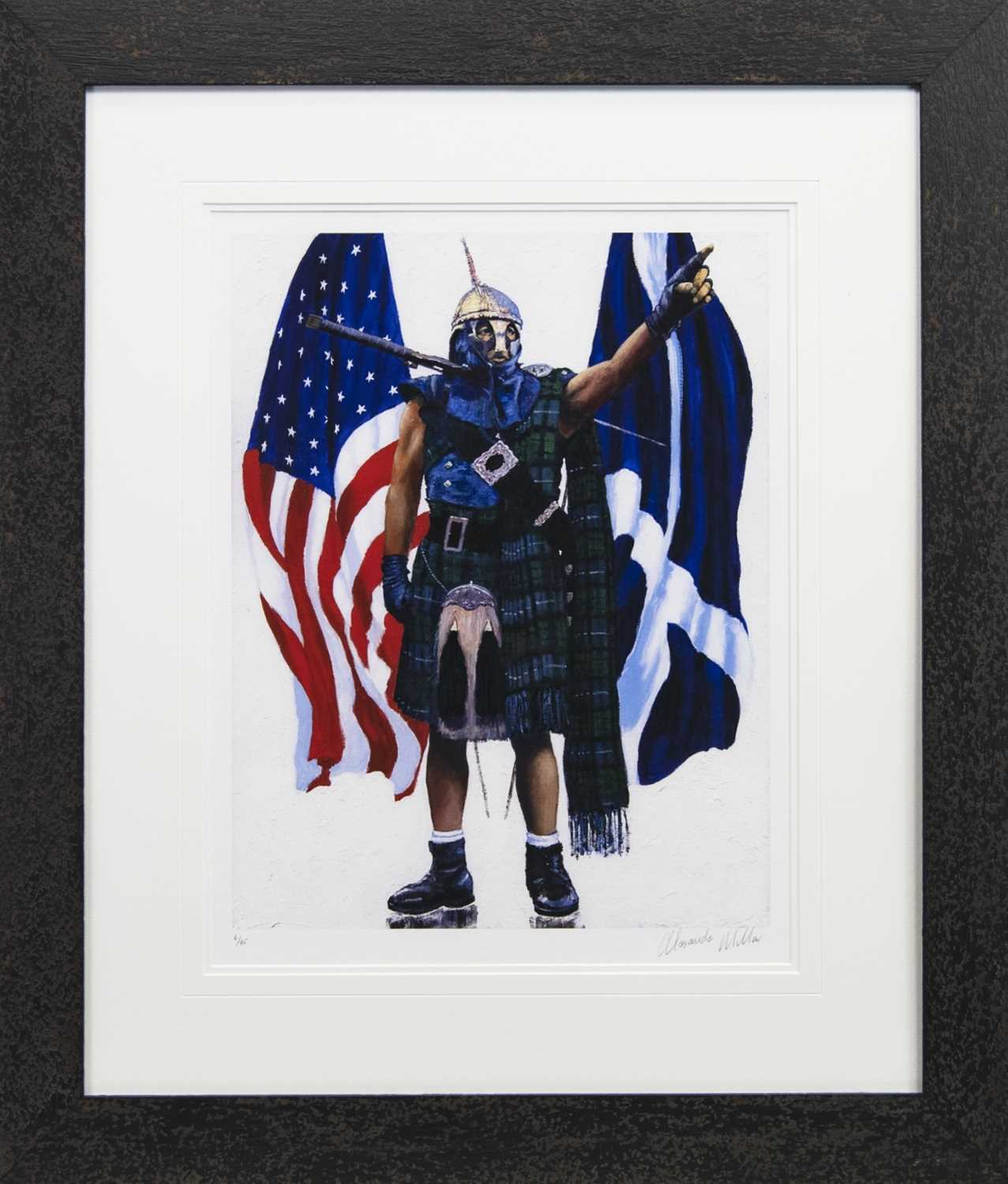 Lot 105 - OVER THE SEAS, A GICLEE PRINT BY ALEXANDER MILLAR