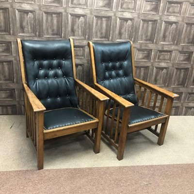 Lot 1628-A PAIR OF EARLY 20TH CENTURY ARMCHAIRS
