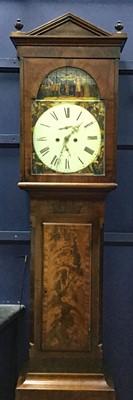Lot 1105-AN EARLY 19TH CENTURY MAHOGANY LONGCASE CLOCK