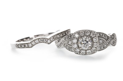 Lot 1305-A DIAMOND BRIDAL SET BY NEIL LANE
