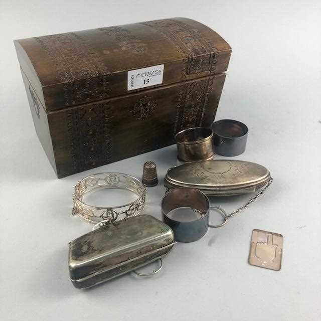 Lot 15-A GROUP OF SILVER AND OTHER ITEMS