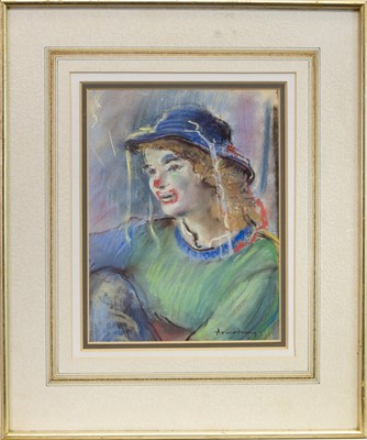 Lot 512-GLASGOW STREET ENTERTAINER, A PASTEL BY ANTHONY ARMSTRONG