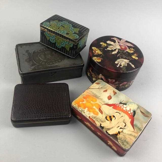 Lot 22-A GROUP OF VINTAGE METAL AND OTHER TINS