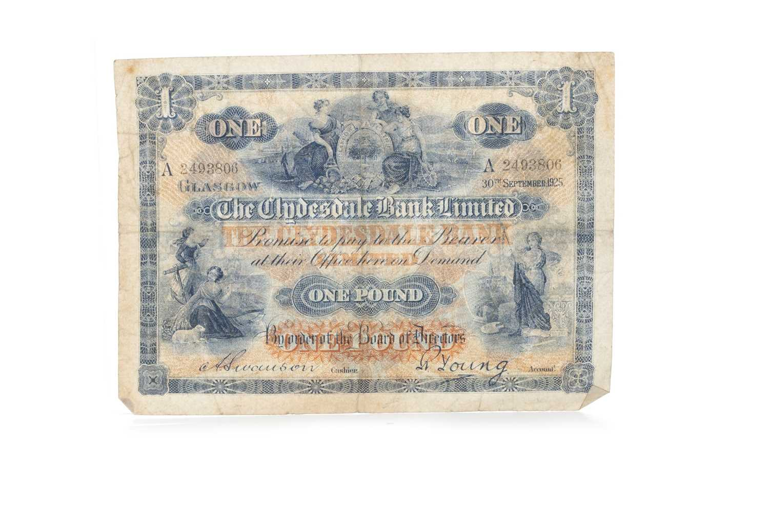 Lot 4-THE CLYDESDALE BANK LIMITED ONE POUND £1 NOTE