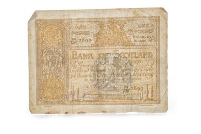 Lot 5-A BANK OF SCOTLAND ONE POUND £1 NOTE