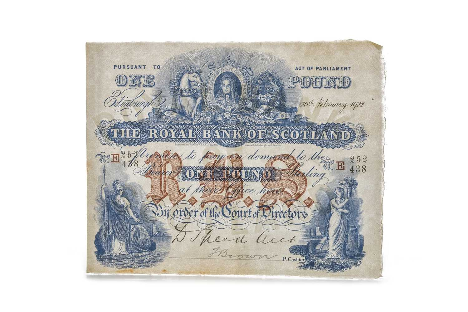Lot 6-THE ROYAL BANK OF SCOTLAND ONE POUND £1 NOTE