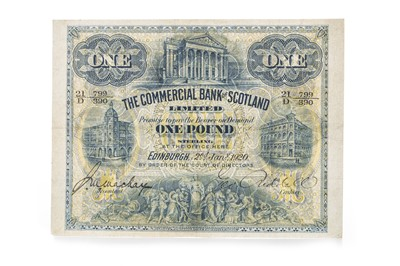 Lot 9-THE COMMERCIAL BANK OF SCOTLAND ONE POUND £1 NOTE