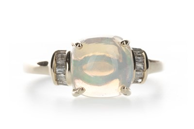 Lot 1339-AN OPAL AND DIAMOND RING