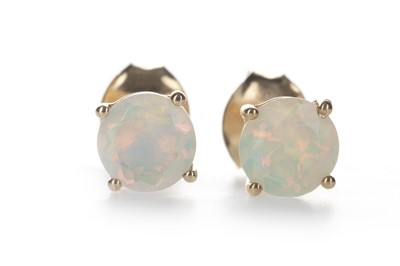 Lot 1344-A PAIR OF OPAL STUD EARRINGS