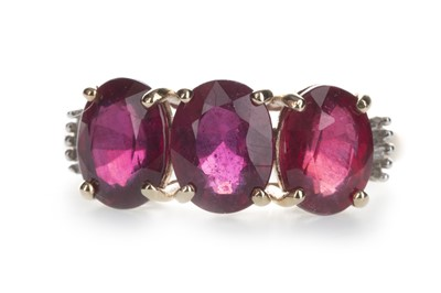 Lot 1369-A RUBY AND DIAMOND RING