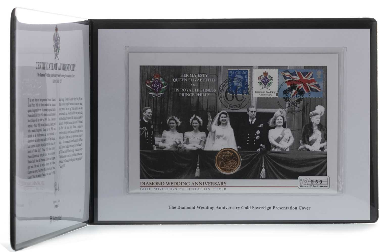 Lot 15-THE DIAMOND WEDDING ANNIVERSARY GOLD SOVEREIGN PRESENTATION COVER